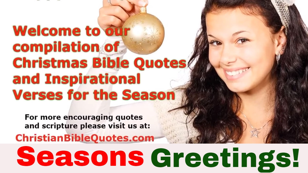 Christmas Bible Verses And Scripture About The Birth Of Jesus Christ.  Christian Bible Quotes