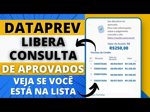 AUXÍLIO EMERGENCIAL - DATAPREV LIBERA CONSULTA DE APROVADOS - VEJA SE VOCÊ ESTÁ NA LISTA