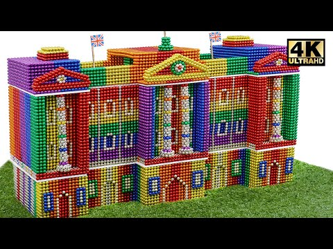 How To Build Buckingham Palace From 100,000 Magnetic Balls (Satisfying) | Magnet World Series
