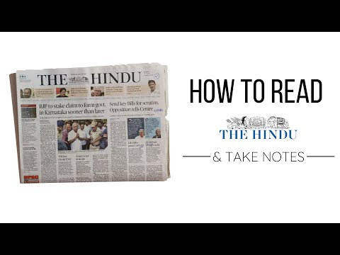 How to Read the Hindu Newspaper for UPSC and Take Notes ☆ IN
