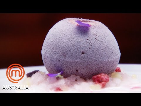 Blackcurrant & Plum Sphere Dessert Pressure Test | MasterChef Australia | MasterChef World