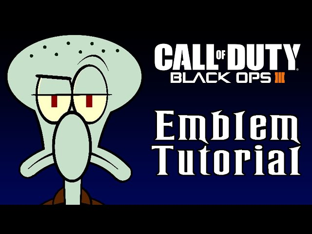Black Ops 3 - Squidward Emblem Tutorial