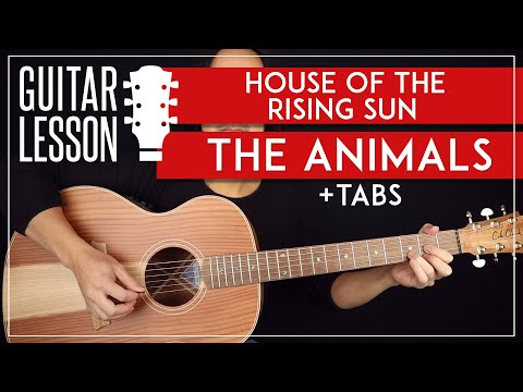 House Of The Rising Sun Guitar Lesson 🎸 The Animals Guitar Tutorial |Easy Chords + TAB|