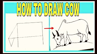 How to draw a cow easily with pencil videos / InfiniTube