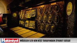 GAZİANTEP'TE MÜZELER 520 BİN KİŞİ TARAFINDAN ZİYARET EDİLDİ