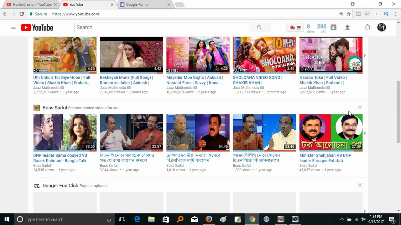 youtube how to delete vidos
