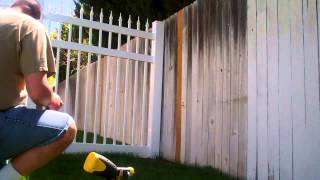 Daddy Chores: How To Stain And Restore An Old Wood Picket Fence. Part 1