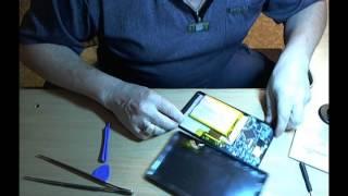 вскрытие планшета Супра и замена дохлой батарейки с помощью посылки из Китая