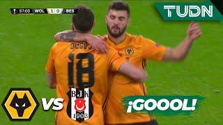Gran remate de Diogo Jota | Wolverhampton 1 - 0 Besiktas | Europa League - J 6 - Grupo K | TUDN