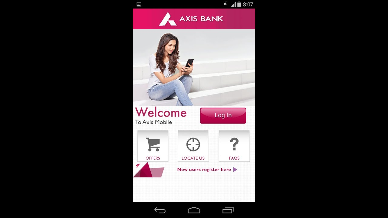 axis bank net banking using your mobile youtube. Black Bedroom Furniture Sets. Home Design Ideas