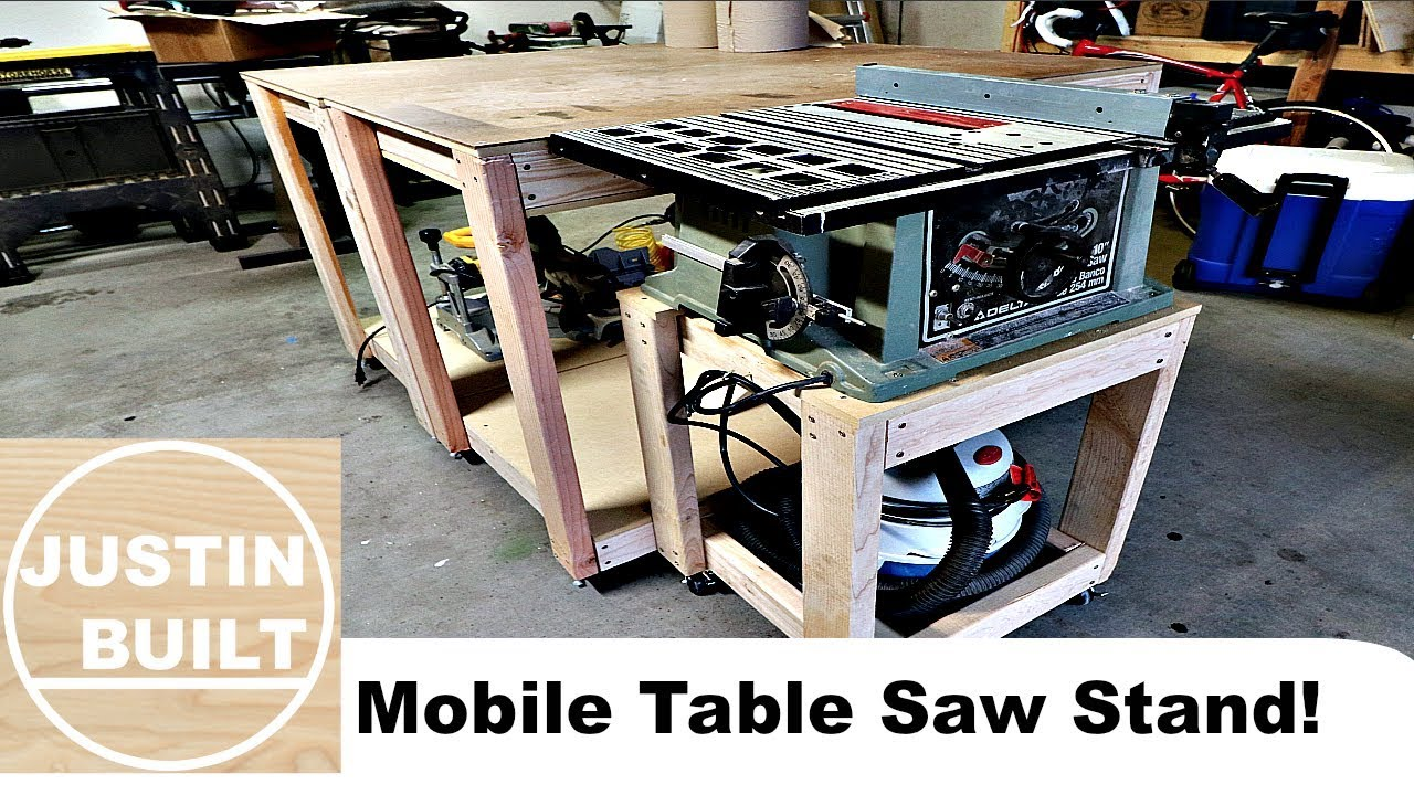 Mobile Table Saw Stand