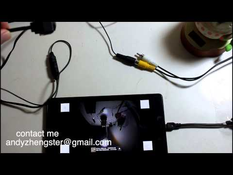 Car Composite Backup camera work on Android NEXUS7