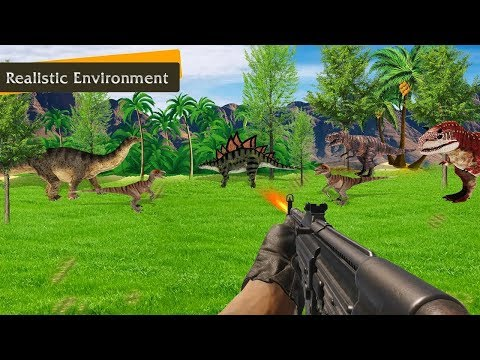 Dinosaur Shooting Games 2018 Dino Hunting FPS Android Gameplay