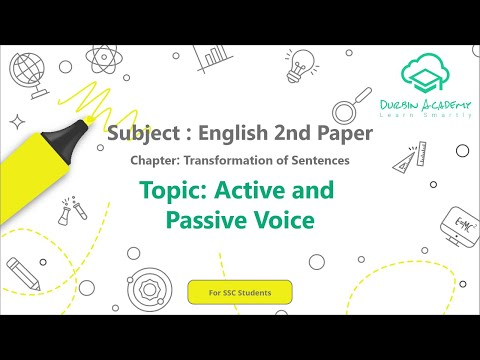 31  English 2nd Paper SSC   Transformation of  Sentences   Active and Passive Voice