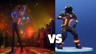New Fortnite Disco Fever Emote In real life Side by Side Comparison