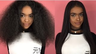 My curly to straight hair tutorial | natural hair