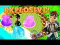 EXPLOSIVE! Hammerman VS Hot Pots & Shock Blaster!