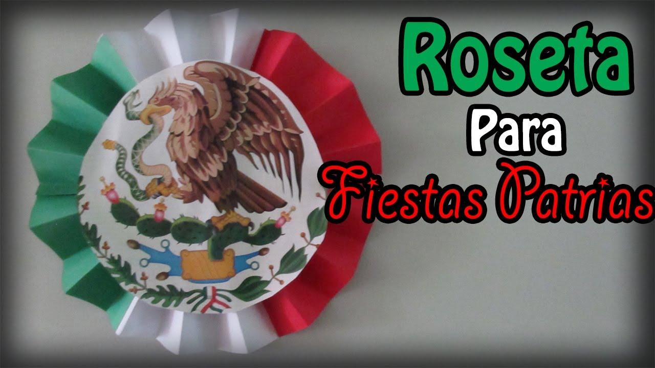 Decoraci n para fiestas patrias roseta de 3 colores for Diario mural fiestas patrias chile