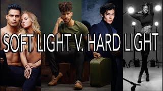 Soft light V. Hard light tutorial, breaking down 5 lighting setups in the photo studio screenshot 4