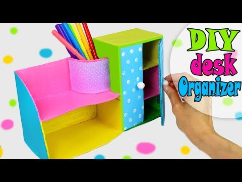 DIY DESK ORGANIZER MULTIFUNCTIONAL FROM CARDBOX EASY TUTORIAL