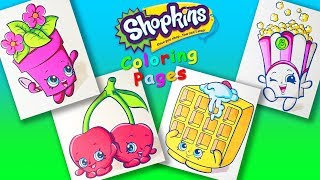 Shopkins characters Part 4 Coloring Pages for Kids. Learn Colors and Draw with Shopkins