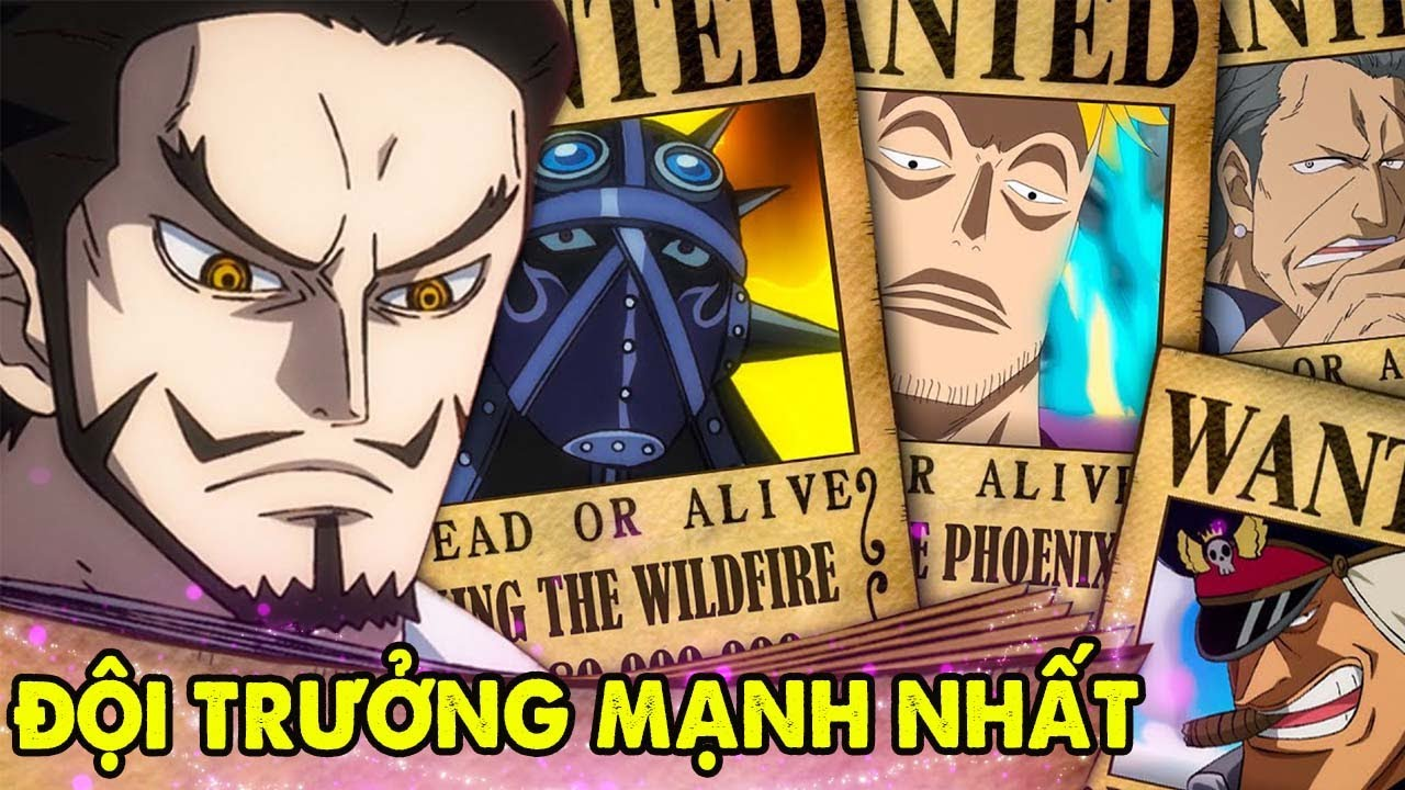Xếp Hạng Top 5 Đội Trưởng Mạnh Nhất Của Tứ Hoàng   Katakuri Và King Ai Mạnh Hơn ?