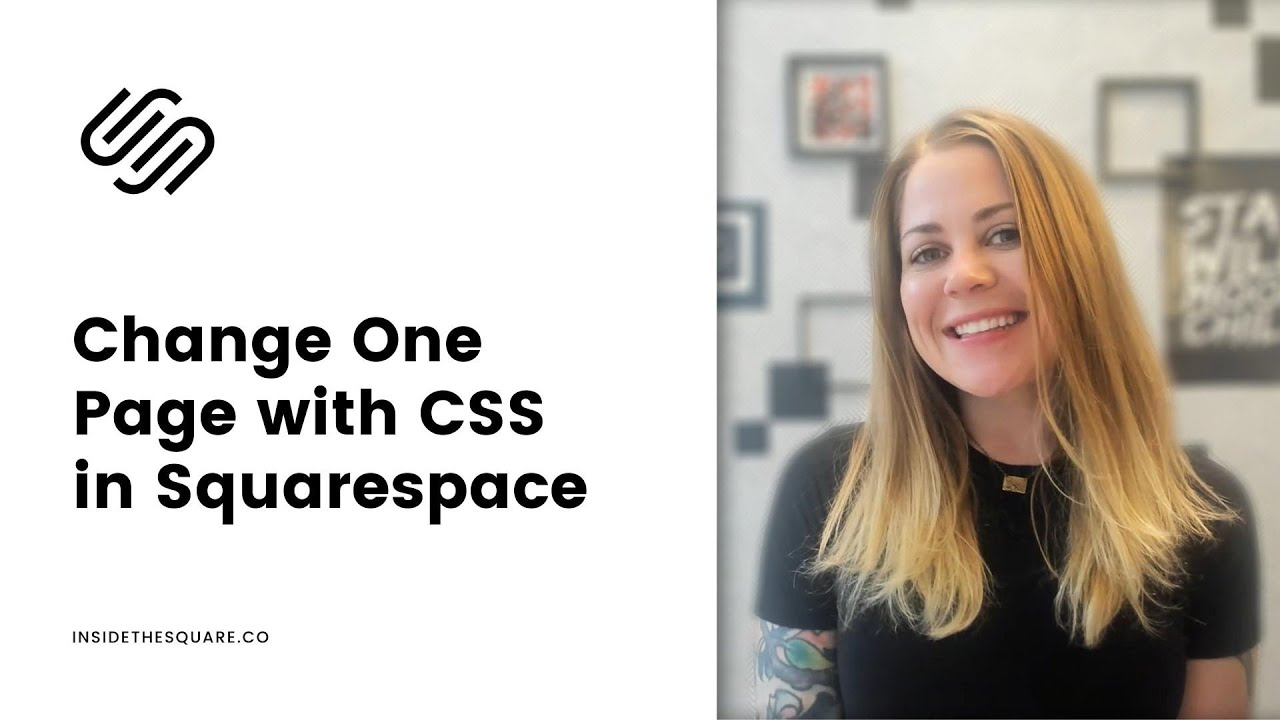 How to install CSS on one page in Squarespace 7.1 // CSS on a Single Page in Squarespace 7.1