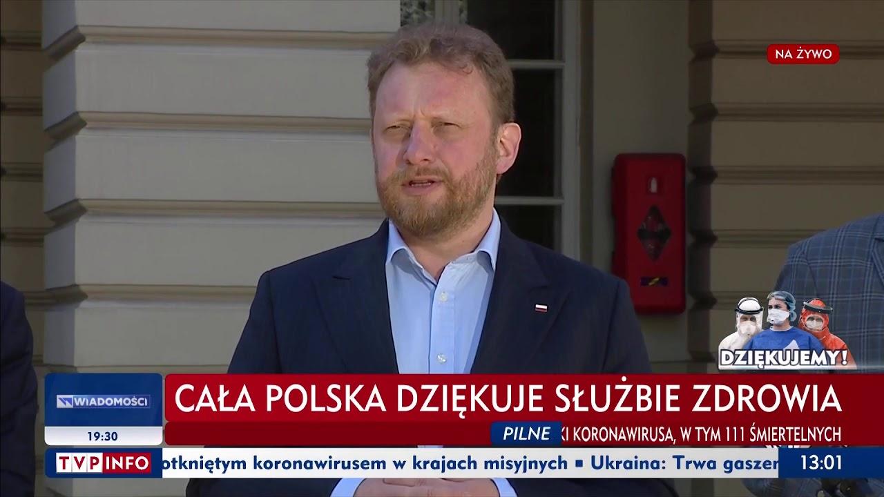 Konferencja ministra zdrowia Łukasza Szumowskiego