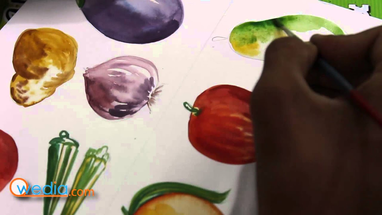 pictures How to Paint With Fruit and Vegetables