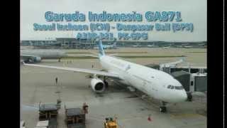 Garuda Indonesia GA871: Seoul to Bali in A330 Economy Class