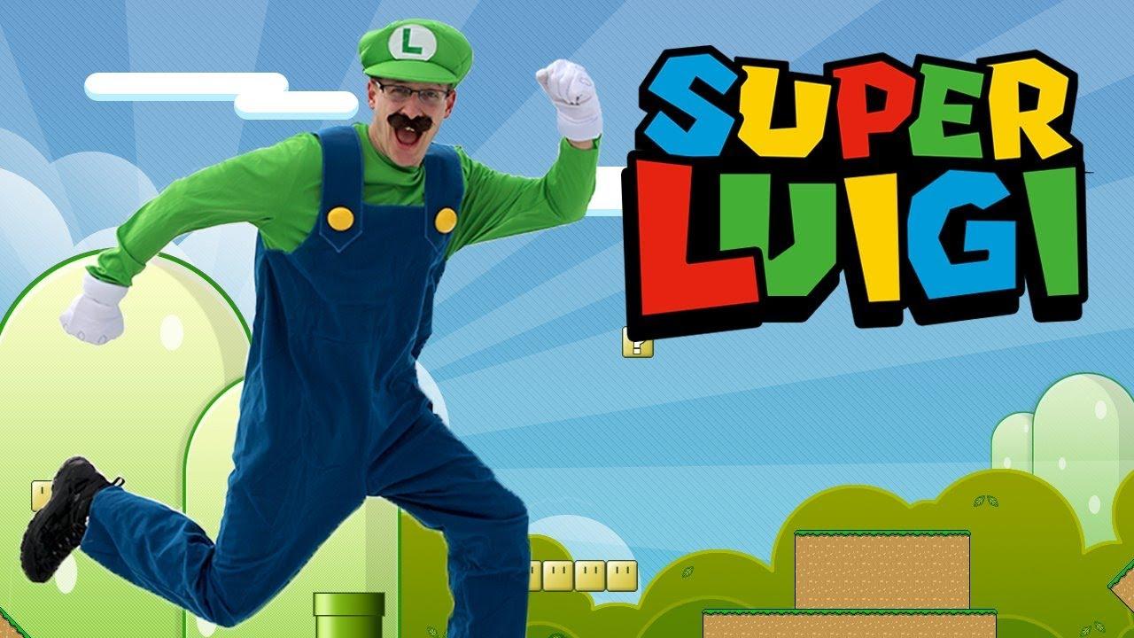 Super Luigi In Real Life Super Mario Bros