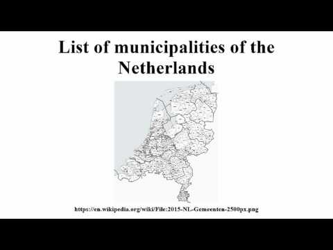 List of municipalities of the Netherlands