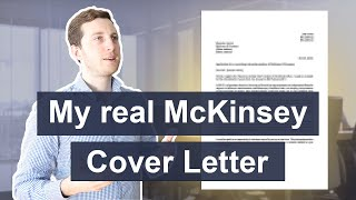 I Applied To McKinsey With This Cover Letter - And Got In! | Cover Letter For Job Application