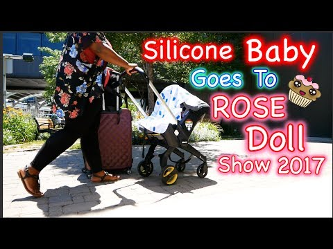 Silicone Baby Rocky Goes on Airplane to Reborn ROSE Doll Show!