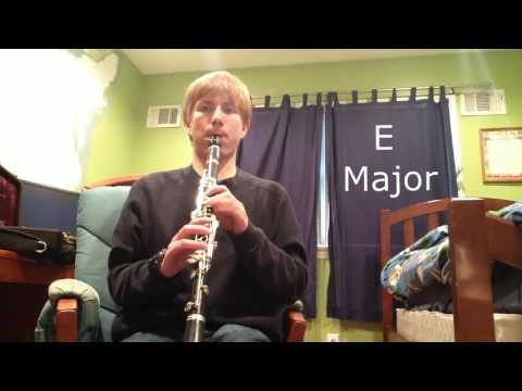 All Major Scales and Arpeggios on Bb Clarinet