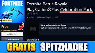 SO DO YOU A FREE FORTNITE SPITZHACKE and MORE!! (this is how it works) | PS4 Celebration Pack