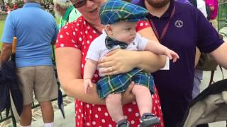"""Six-month-old Elijah Wagner arrives at the RBC Heritage Presented by Boeing Saturday morning dressed for Plaid Nation Day. Fans dressed to their """"plaidest"""" will compete for prizes from noon to 2 p.m. at the Heritage Lawn by the 18th teebox. Other contests for all ages will be held. Elijah is the son of Dr. Julie Wagner and the Rev. Kyle Wagner of Halifax, Nova Scotia. His mom made his kilt, page boy cap and bow tie of the Nova Scotia tartan. His kilt pin is a diaper pin. Julie Wagner has attended the Heritage for 28 years. Her parents spend a couple of months each year in Sea Pines, on Hilton Head Island, where the tournament is held."""