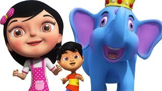 हाथी राजा कहाँ चले | Hathi Raja Kahan Chale | Hindi Nursery Poems | Kids Channel India | Hindi Rhyme