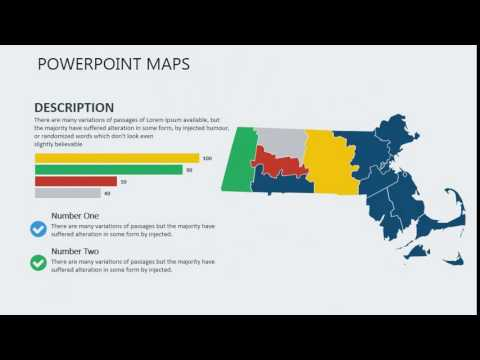 PowerPoint maps of Massachusetts with Counties
