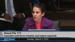 3/5/19 Leili Fatehi, Minnesotans for Responsible Marijuana Regulation, testifies in support of HF717