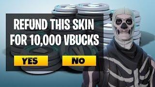 Fortnite Refunds - How To Get V-Bucks For Unwanted Skins!! (Vbucks GIVEAWAY!)
