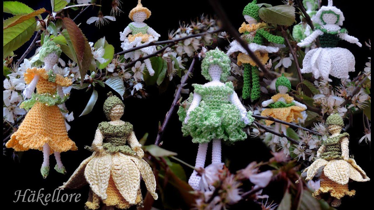 Blumenmädchenelfen Fairies Häkeln Crochet Youtube