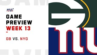 Green Bay Packers vs New York Giants Week 13 NFL Game Preview