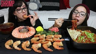 SHRIMP AND RAMEN EATING SHOW | RELAXING AND CHILLIN | PAK'S TOP 10