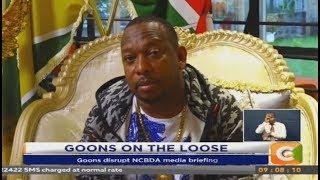Businessmen accuse Sonko of hiring the goons to disrupt NCBDA media briefing
