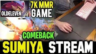 SUMIYA Immortal Rank Hard Game with Pro Pangolier | SUMIYA Invoker Stream Moments #595