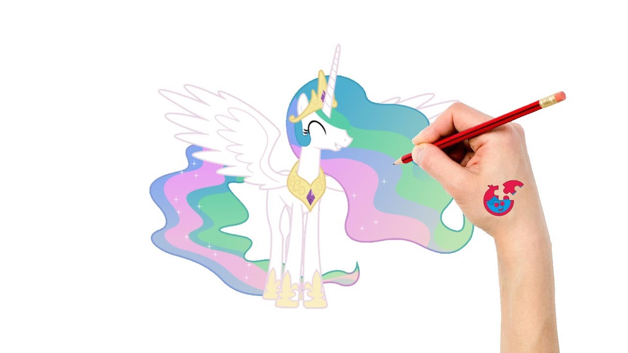 Learning How To Draw My Little Pony For Toddlers Princess Celestia