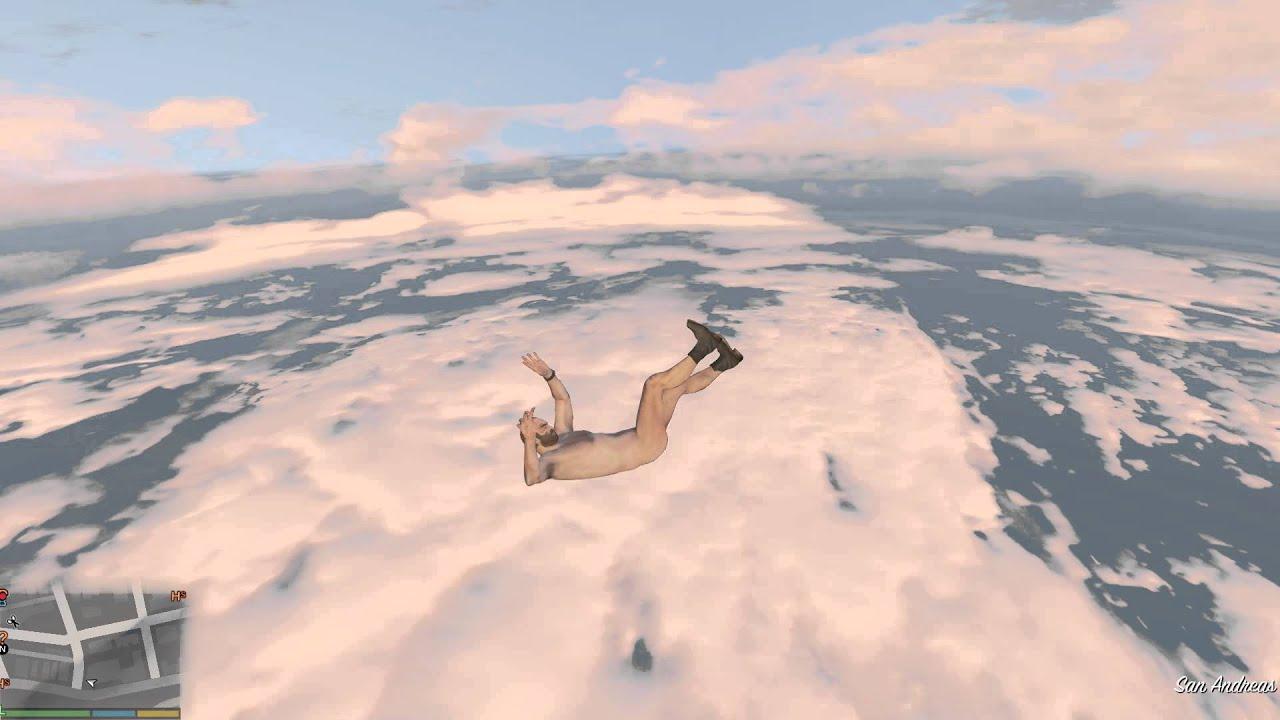 GTA V Naked Trevor falling from the Sky   YouTube