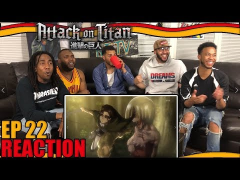 LEVI vs FEMALE TITAN! ATTACK ON TITAN EP 22 REACTION/REVIEW