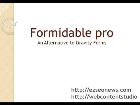 Formidable Pro Alternative to Gravity Forms